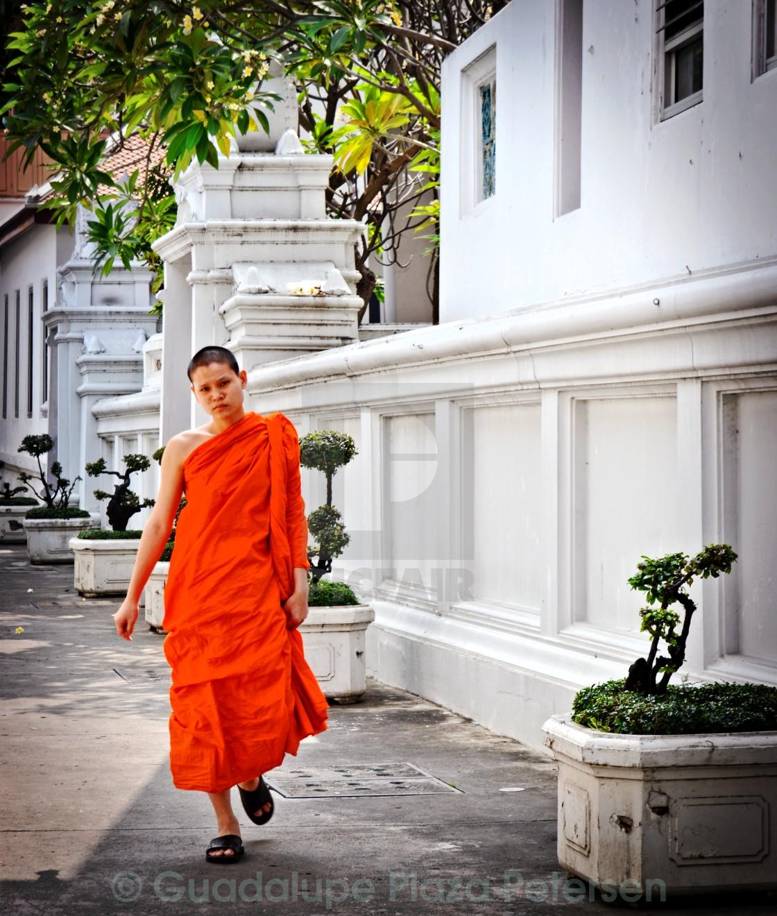"""""""Monk in Bangkok"""" stock image"""