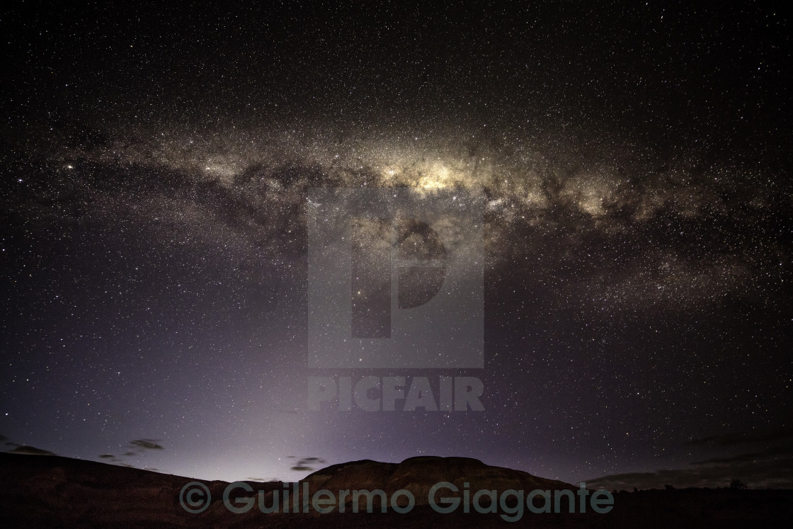 """Milky Way in Patagonia"" stock image"