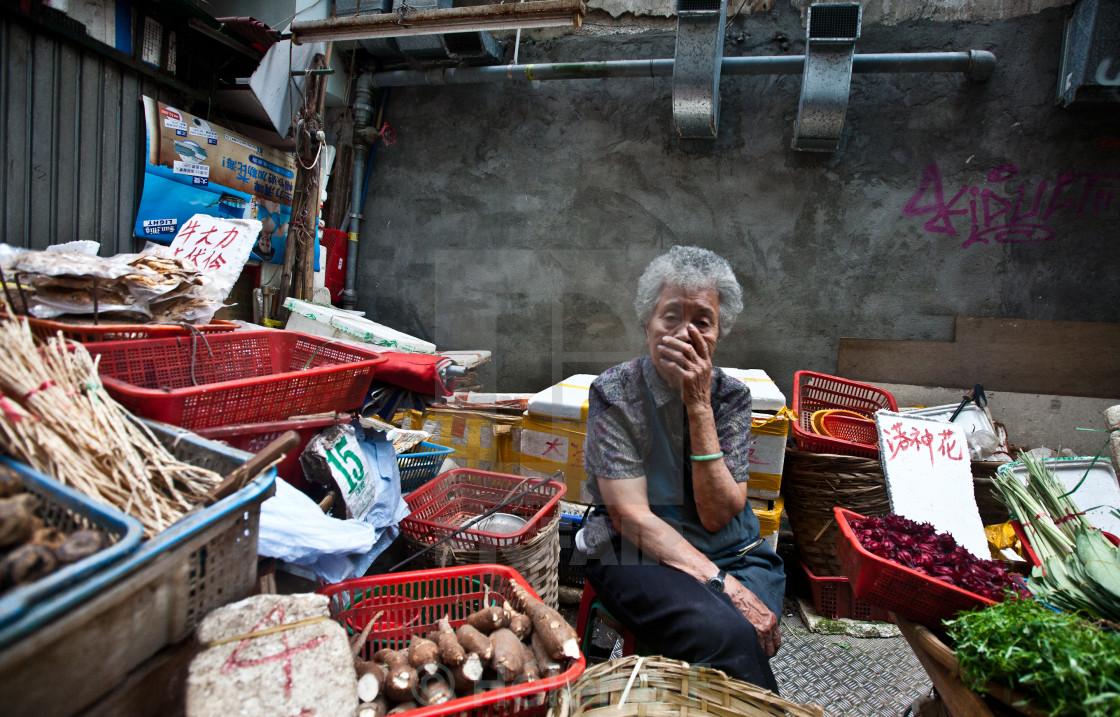 """Hong Kong street market"" stock image"