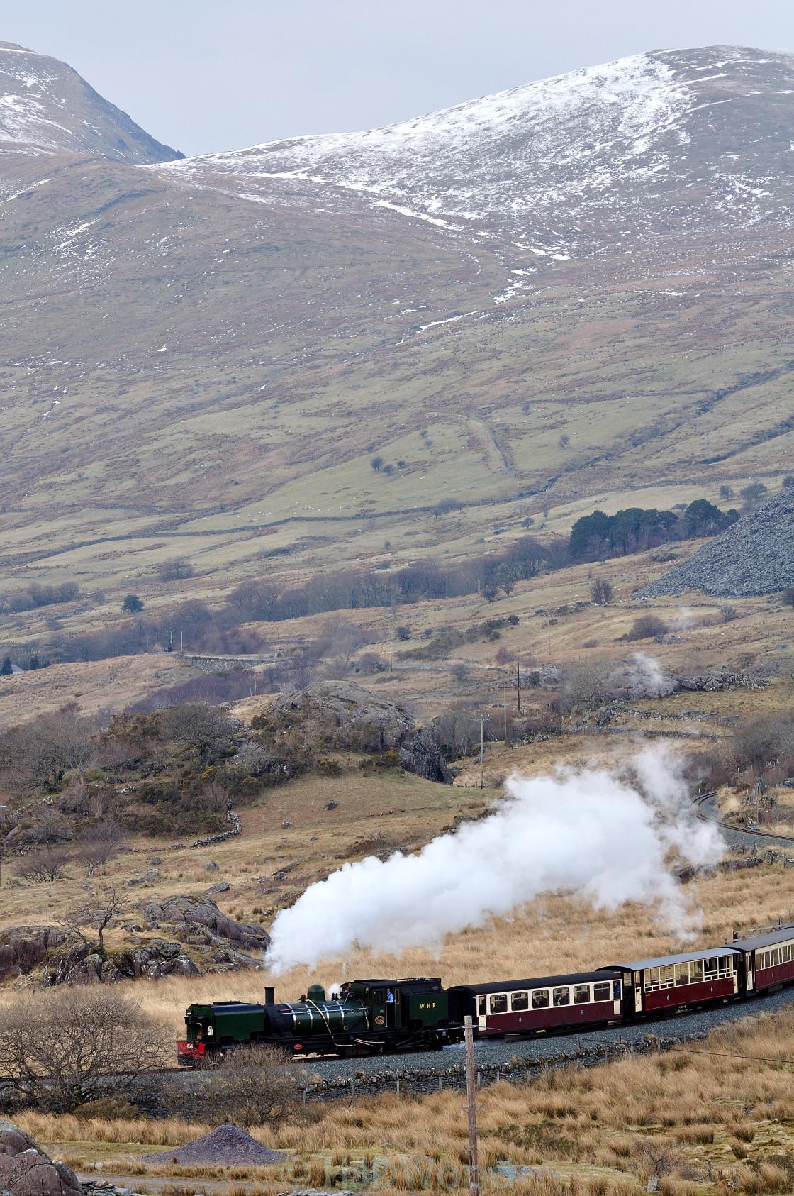 """The Ffestiniog & Welsh Highland Railways"" stock image"