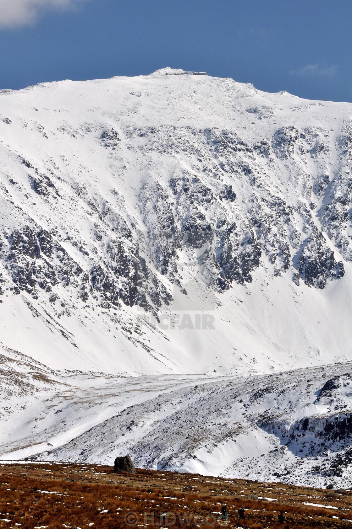 """Snowdon"" stock image"