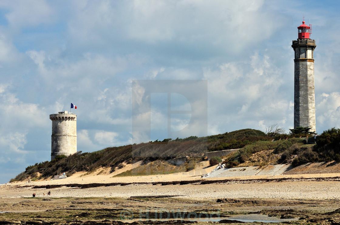 """""""The Phares des Baleines, Ile de Re"""" stock image"""
