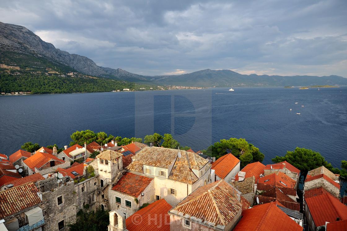 """Korcula Town, Croatia"" stock image"