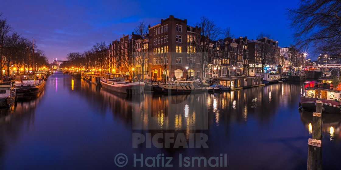 """Blue Hour in Amsterdam, Holland"" stock image"