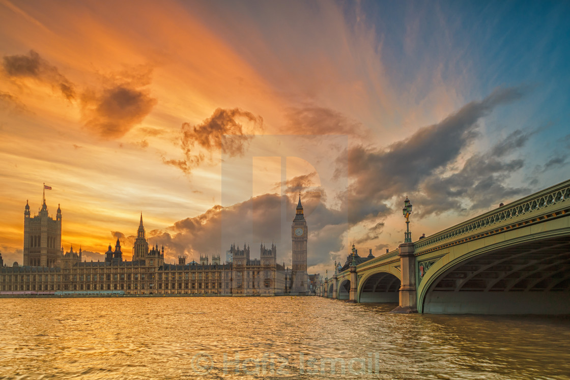 """The Big Ben at Sunset"" stock image"