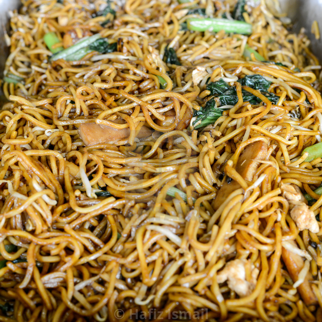 """""""Fried Noodle, Malaysian style. Shallow depth of field."""" stock image"""