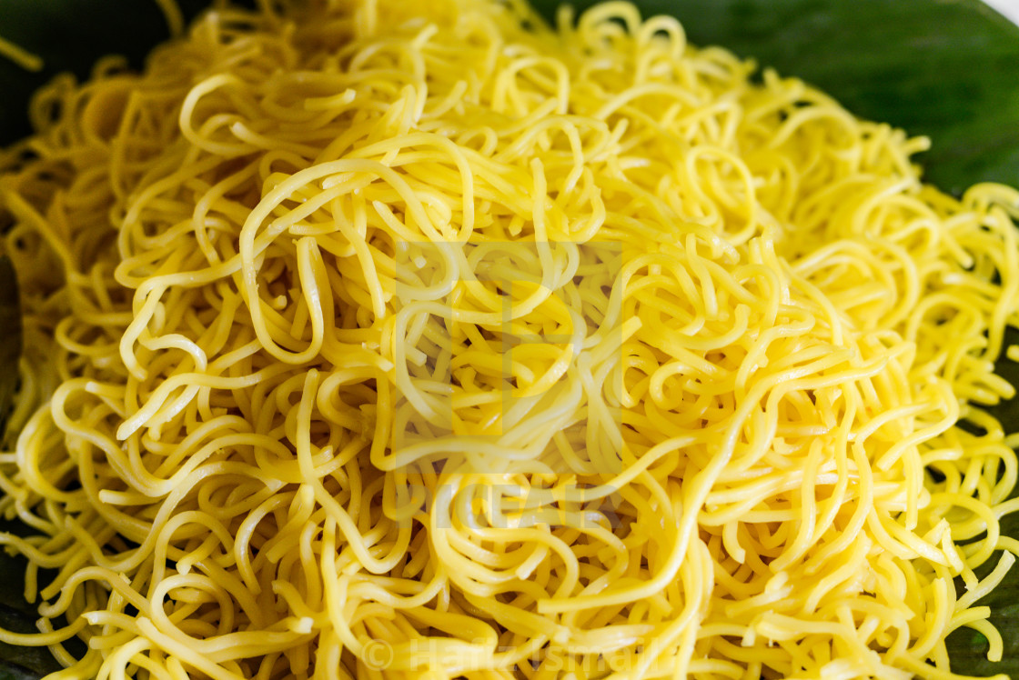 """""""Yellow Noodles. Shallow depth of field."""" stock image"""