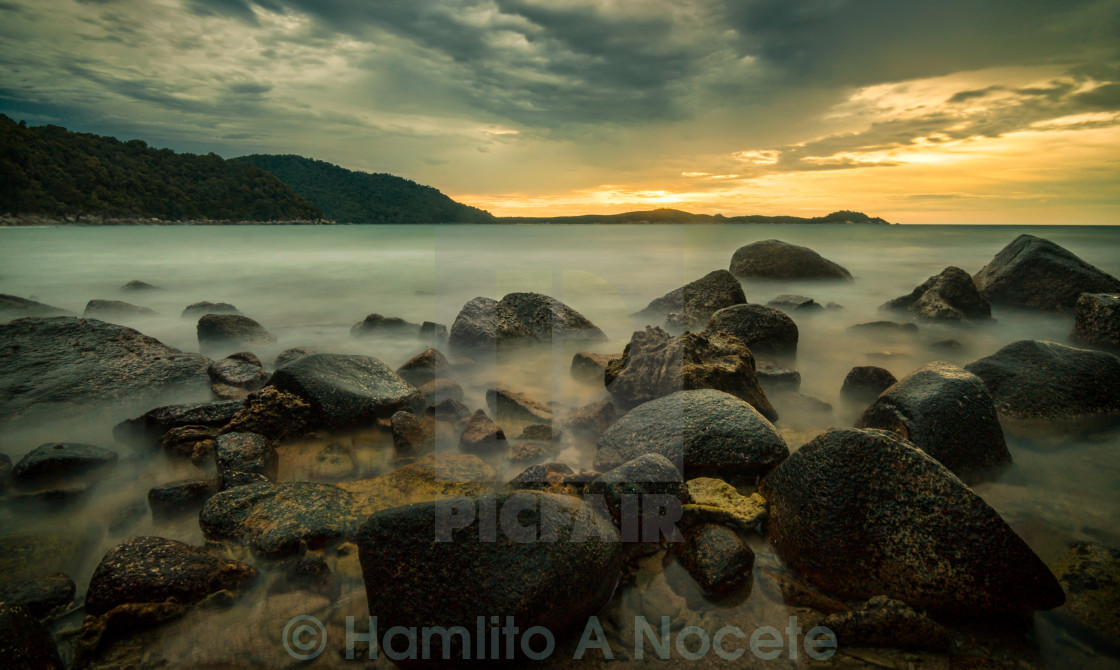 """sunset in Pulau Perhentian"" stock image"