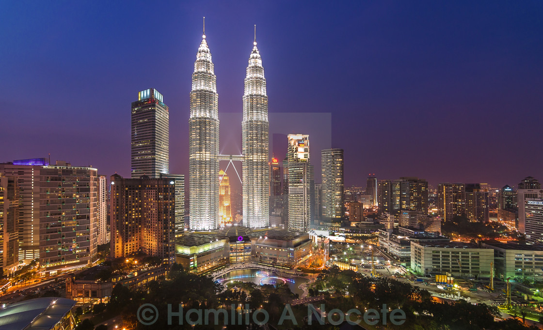 """""""KLCC Malaysia in Blue Hour"""" stock image"""
