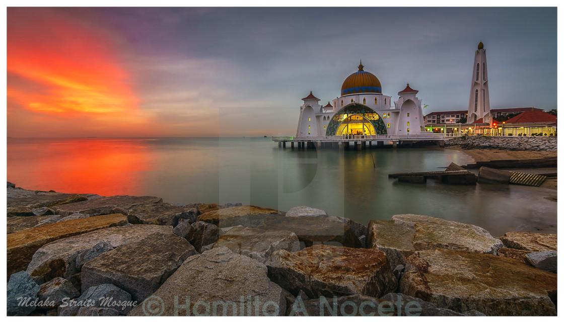 """Malacca Straight Mosque"" stock image"