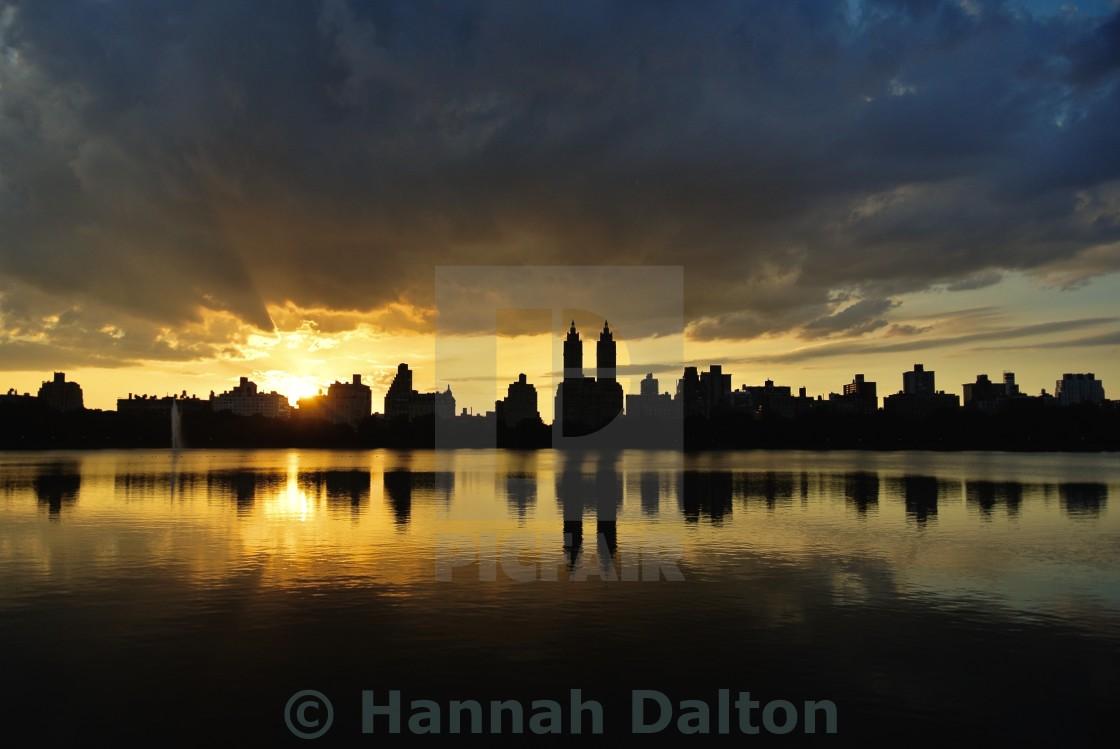 """Central Park Sunset"" stock image"