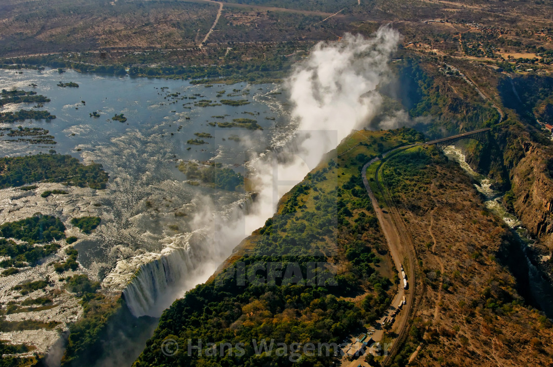"""Victoria Falls Africa -Ariel view"" stock image"