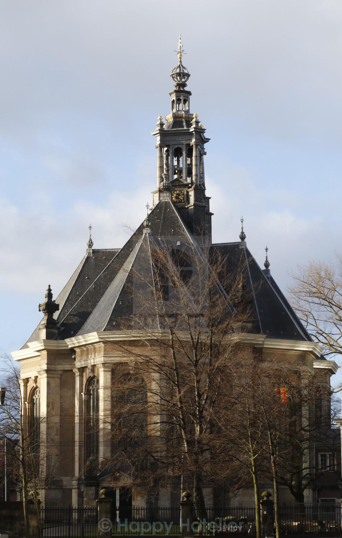 """Nieuwe Kerk or New Church"" stock image"