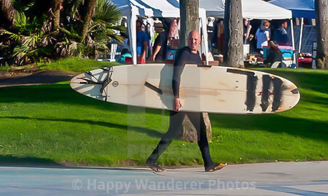 """""""Surfer and board"""" stock image"""