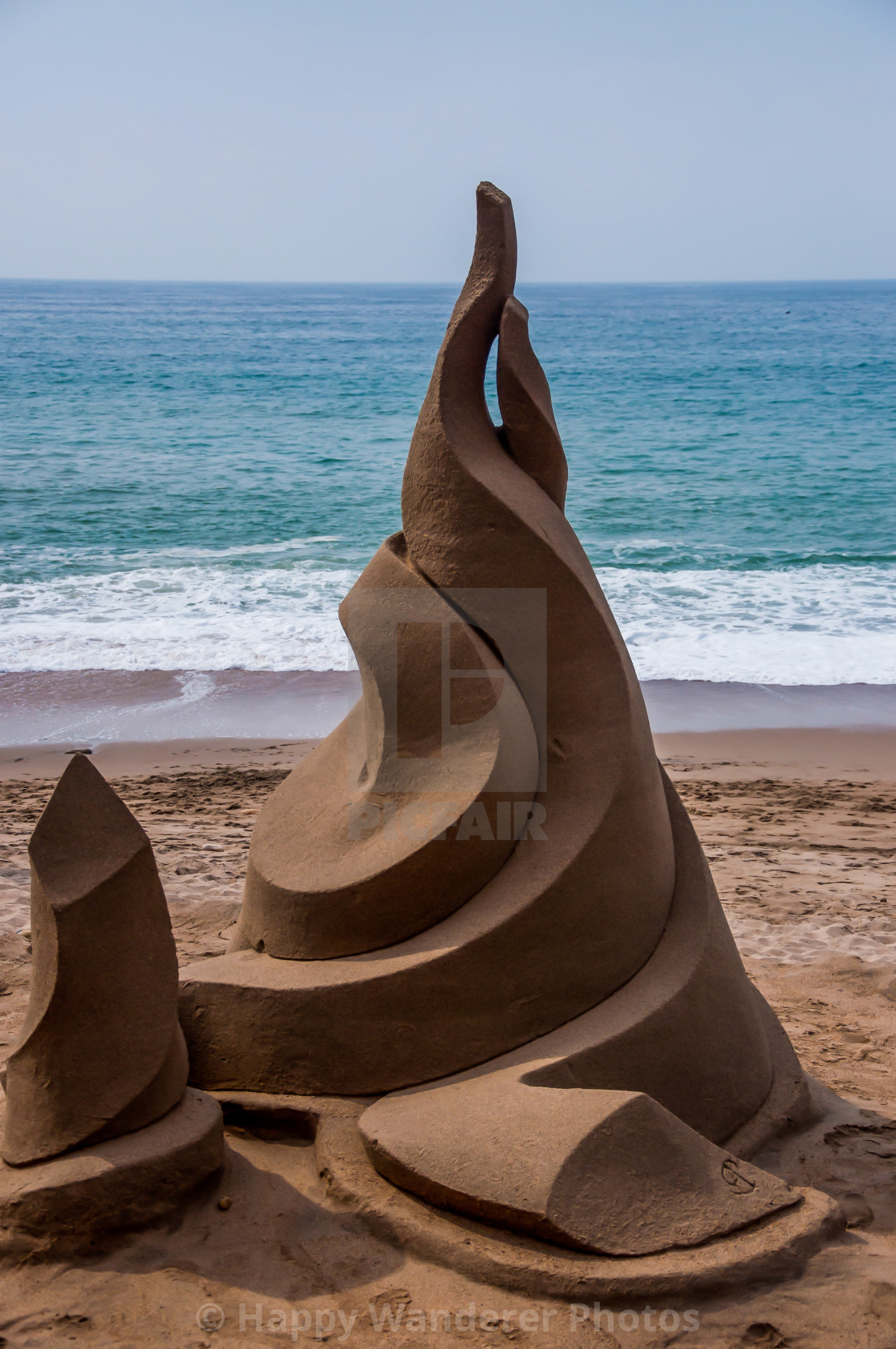 """Modern art in sand"" stock image"