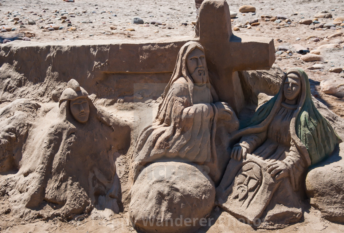 """""""Easter theme at the beach"""" stock image"""