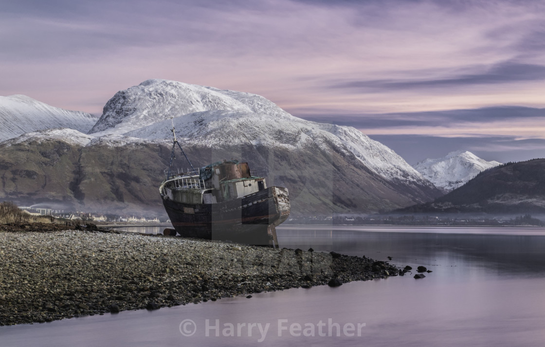 """Shipwreck at Corpach"" stock image"