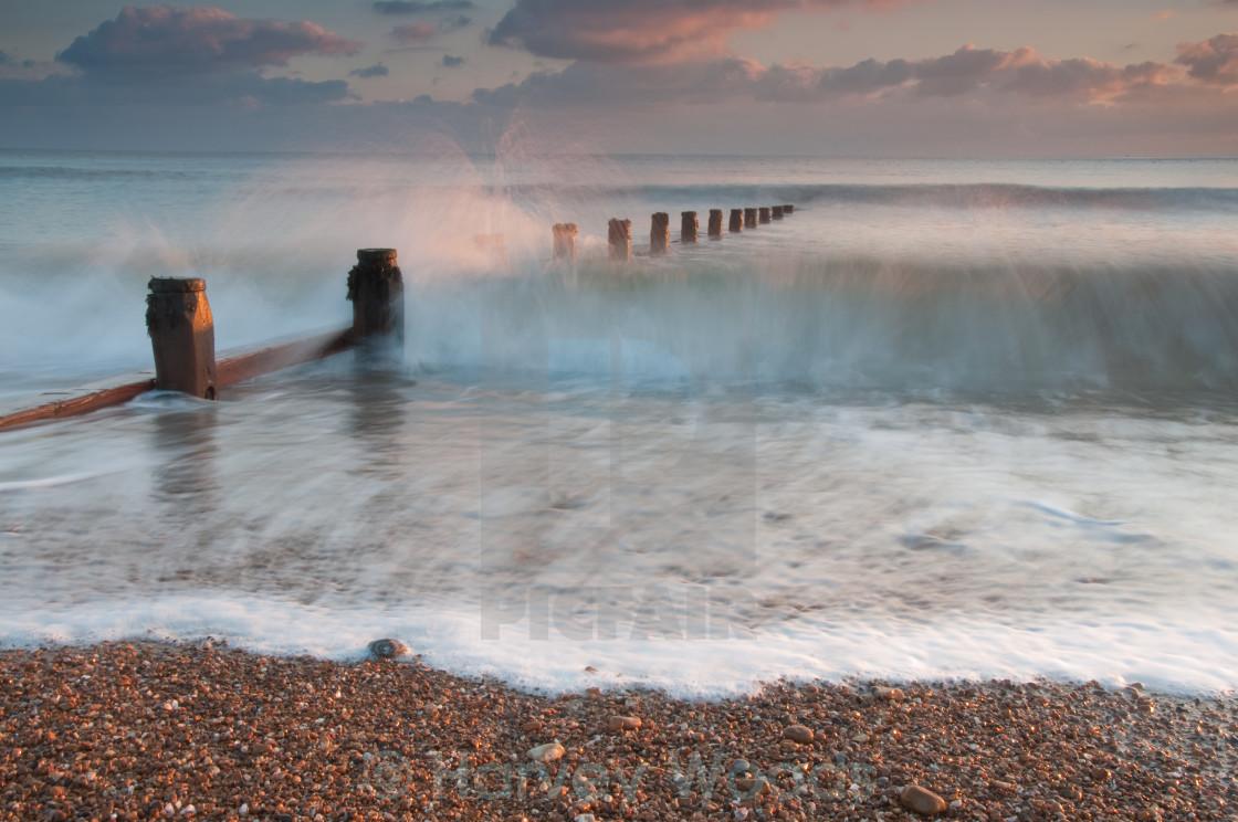 """""""Wave crashing"""" stock image"""