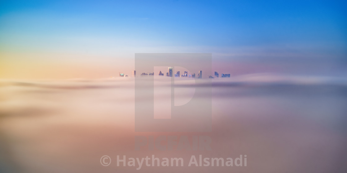 """Foggy Doha"" stock image"