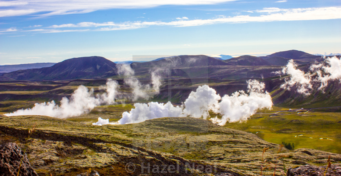 """Hot Springs in Iceland"" stock image"