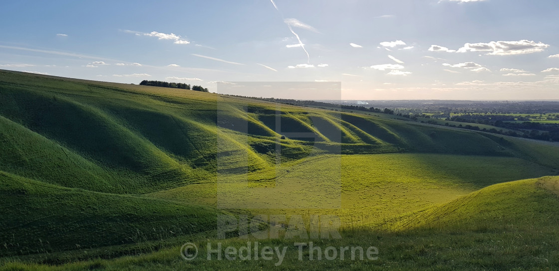 """White Horse Hill, Uffington"" stock image"