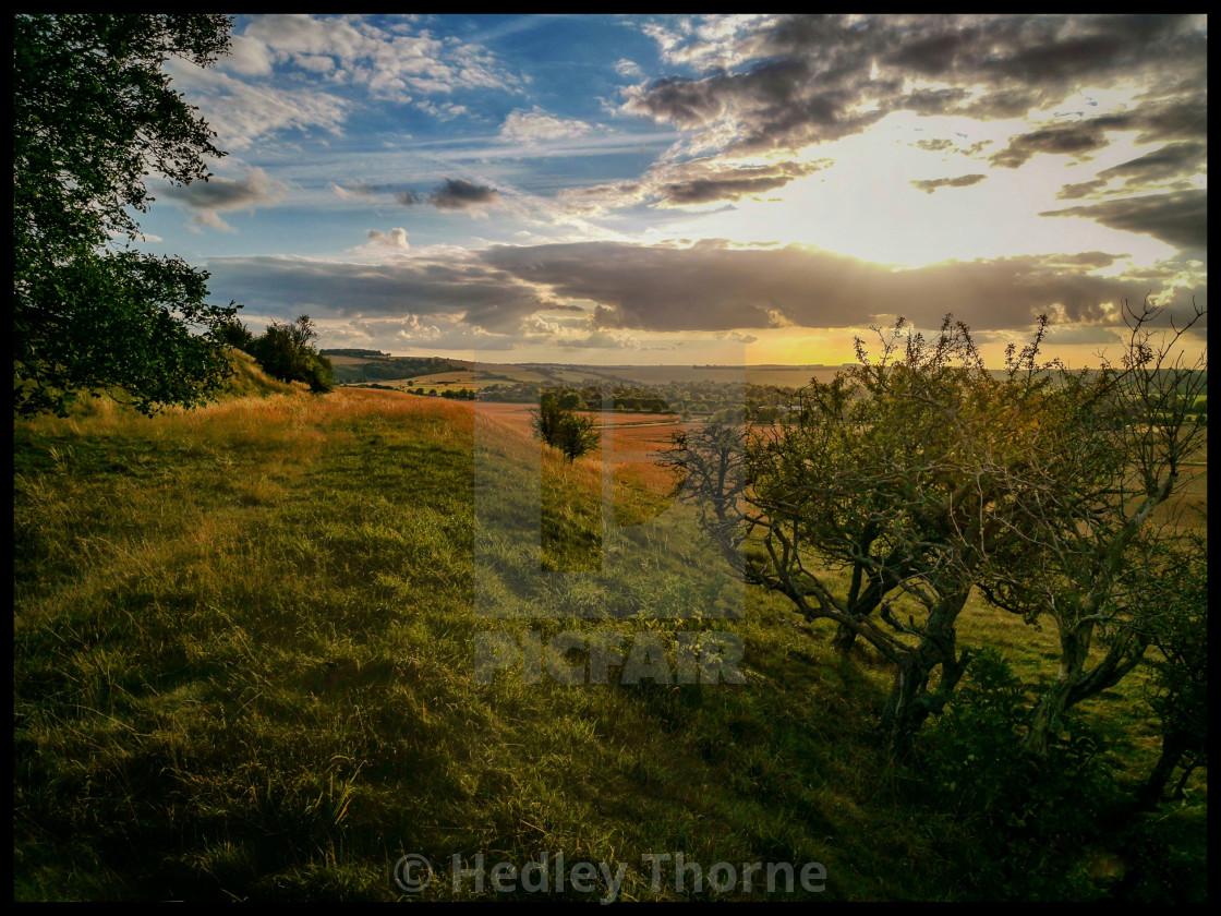 """""""Blewburton Sunset"""" stock image"""