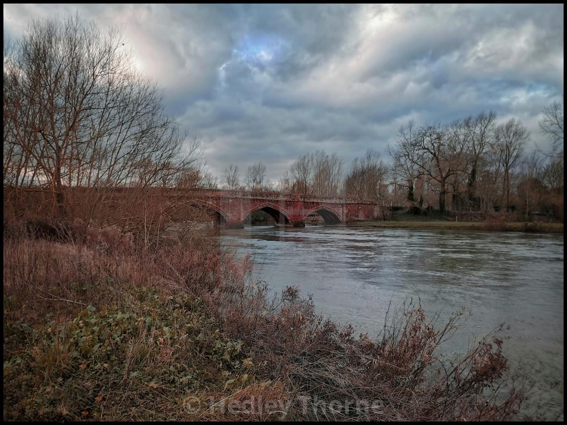 """The Thames at Clifton Hampden"" stock image"