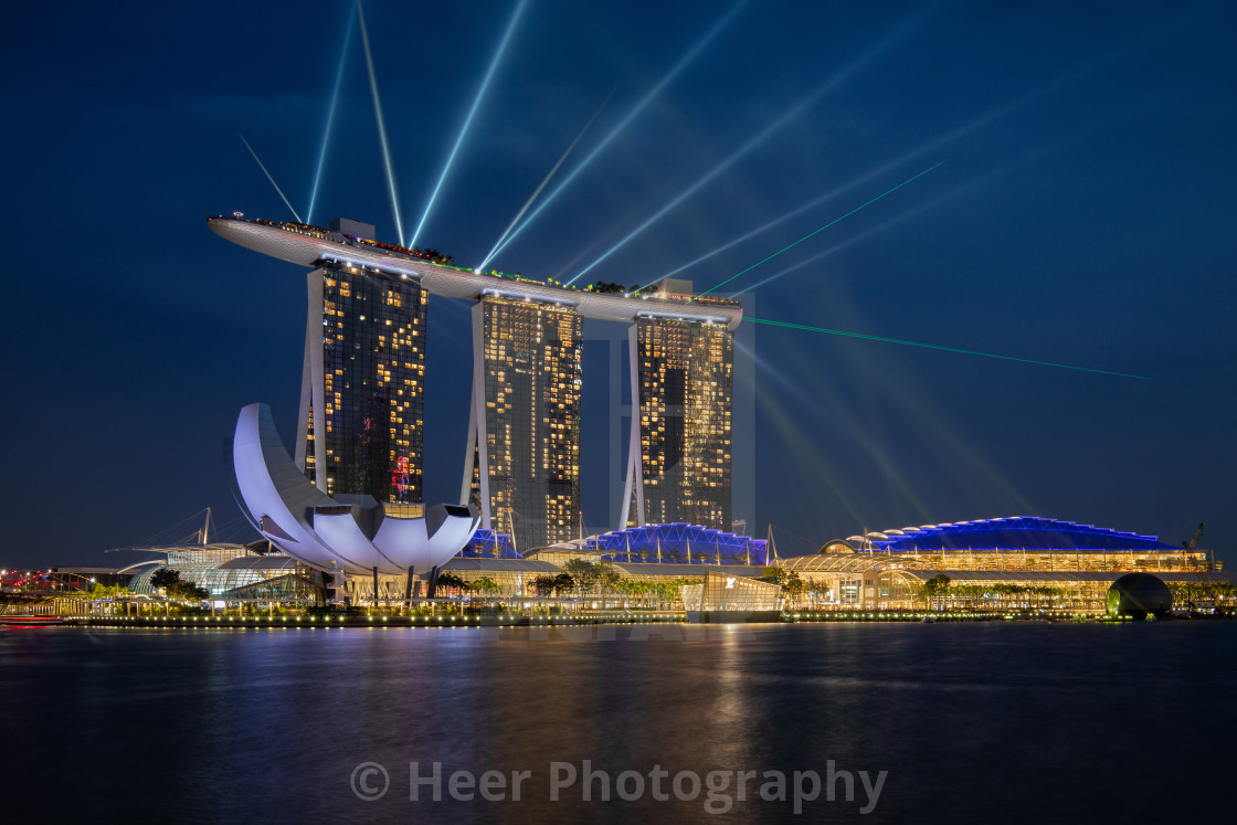 """Marina Bay Sands Light Show"" stock image"