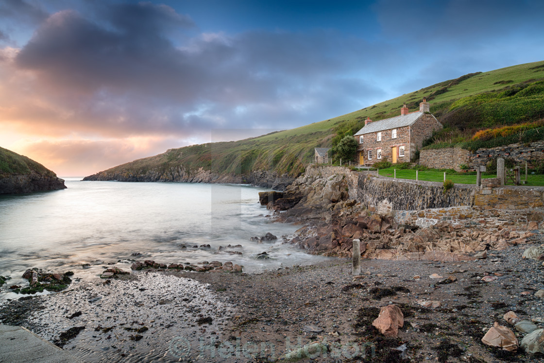 """Port Quin in Cornwall"" stock image"