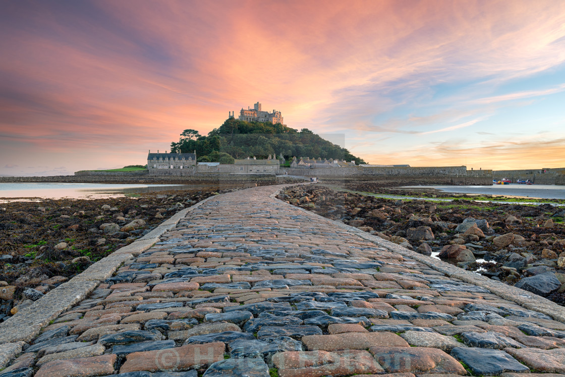 """St Michaels Mount in Cornwall"" stock image"