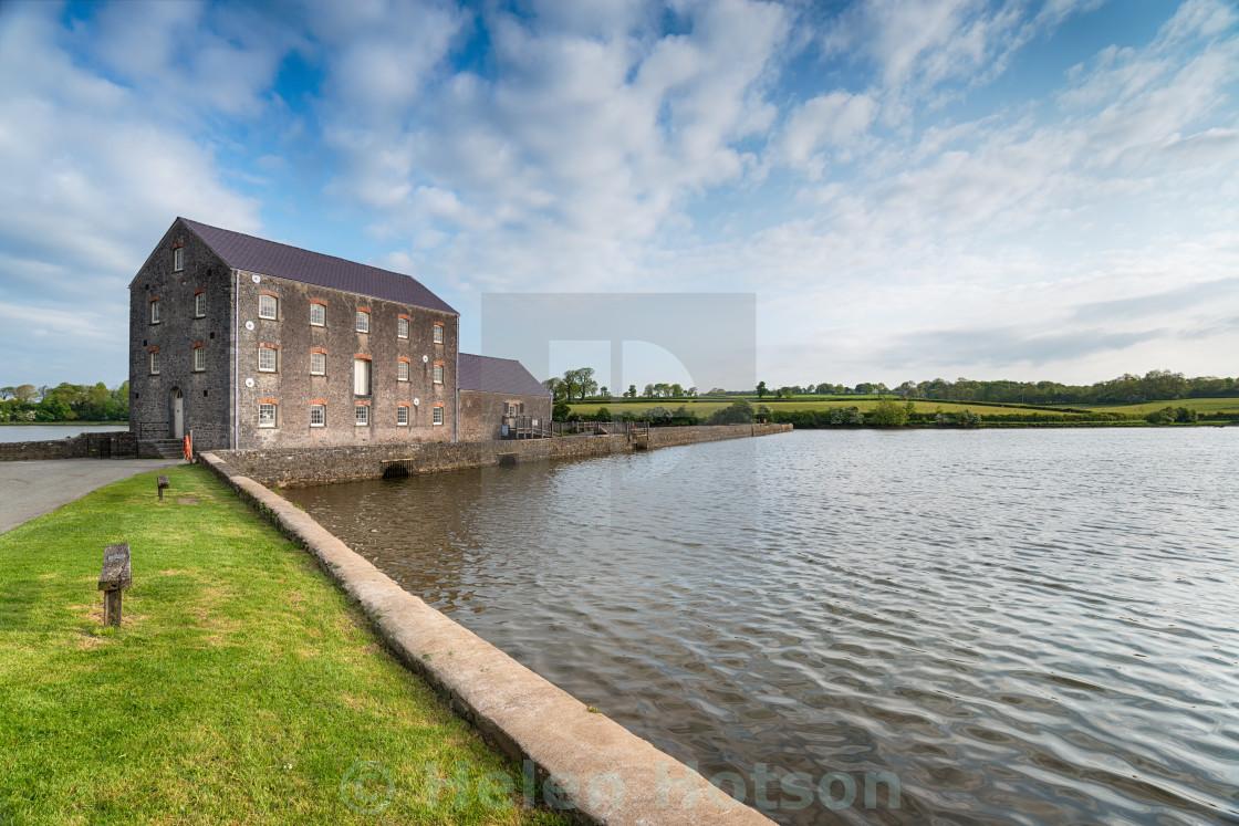 """Carew Tidal Mill"" stock image"