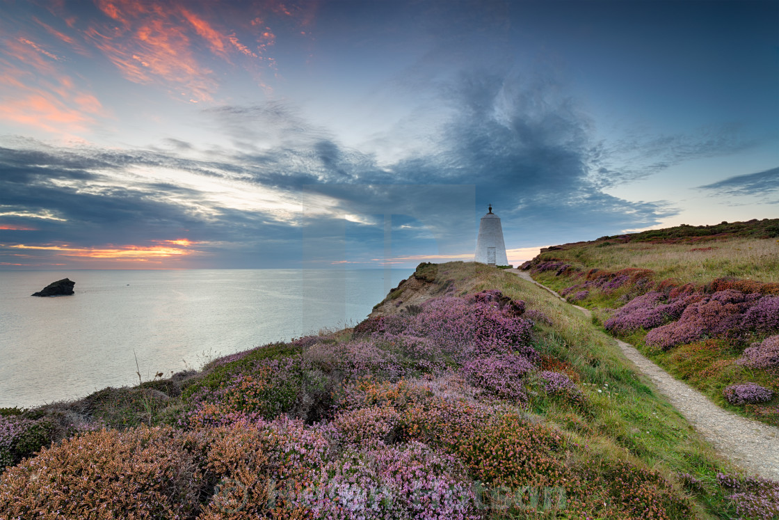 """""""The Pepper Pot Daymark at Portreath"""" stock image"""