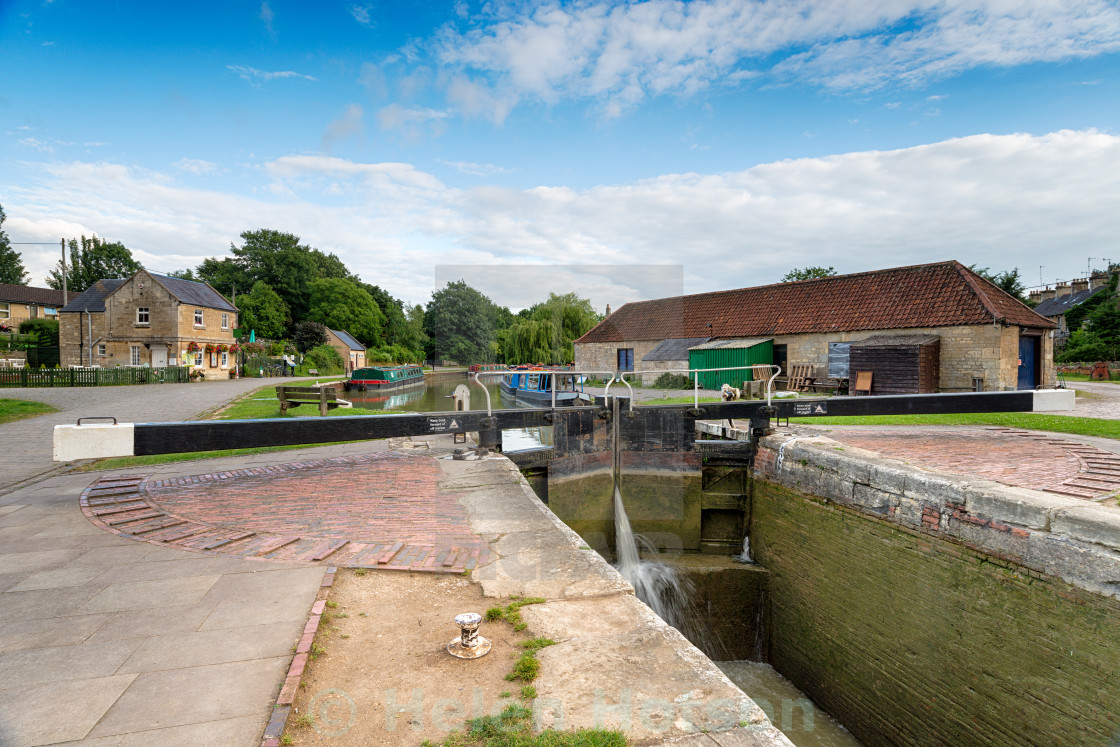"""The Kennet & Avon Canal"" stock image"