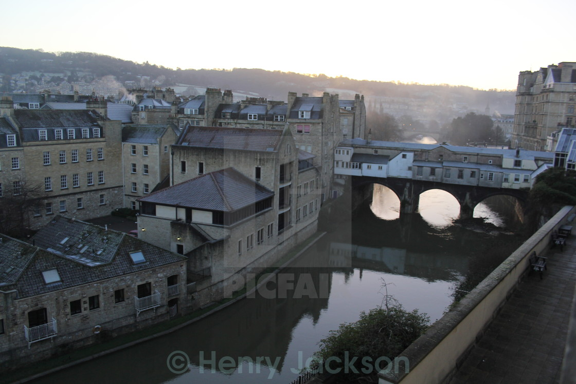 """River Avon in the Morning"" stock image"