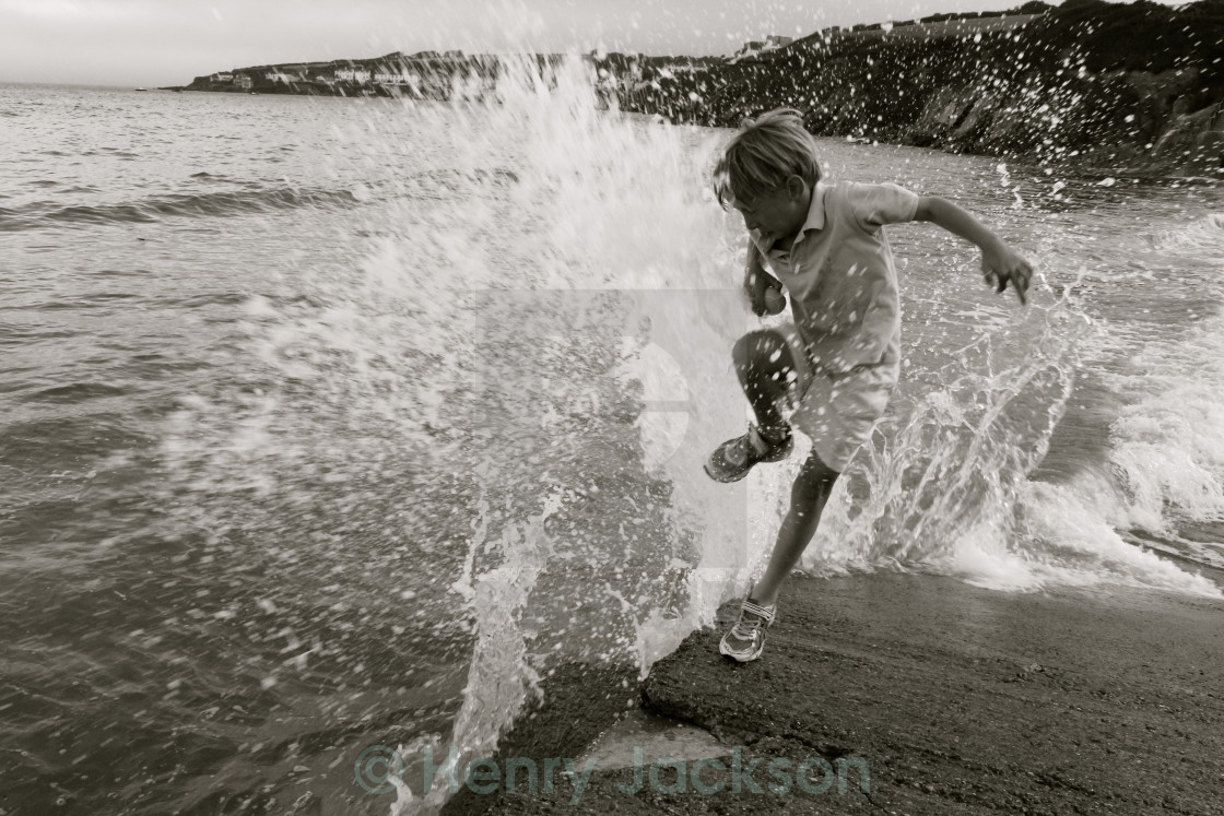 """Caught by the Wave"" stock image"