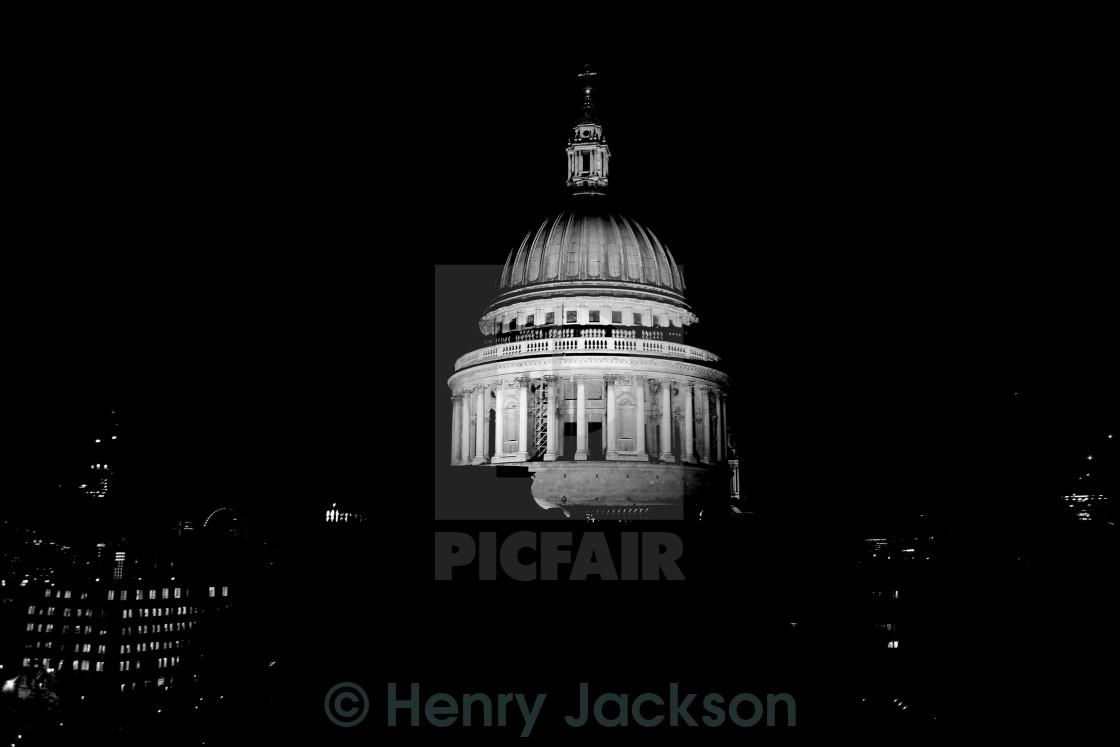 """""""St Pauls at Night"""" stock image"""