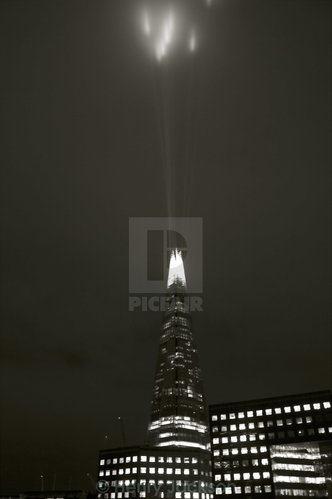 """""""The Sharp of the Shard"""" stock image"""