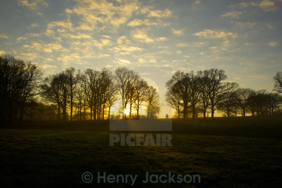 """Sussex Sunset"" stock image"