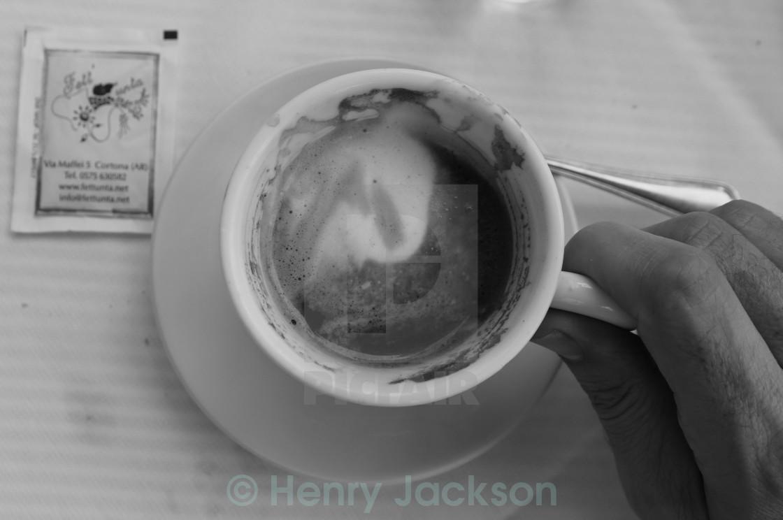 """""""Caffe Americano con Latte"""" stock image"""