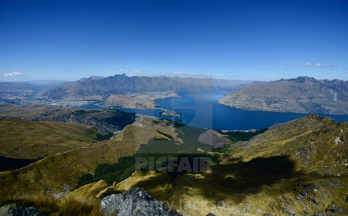 """Portrait of Queenstown - Wide"" stock image"