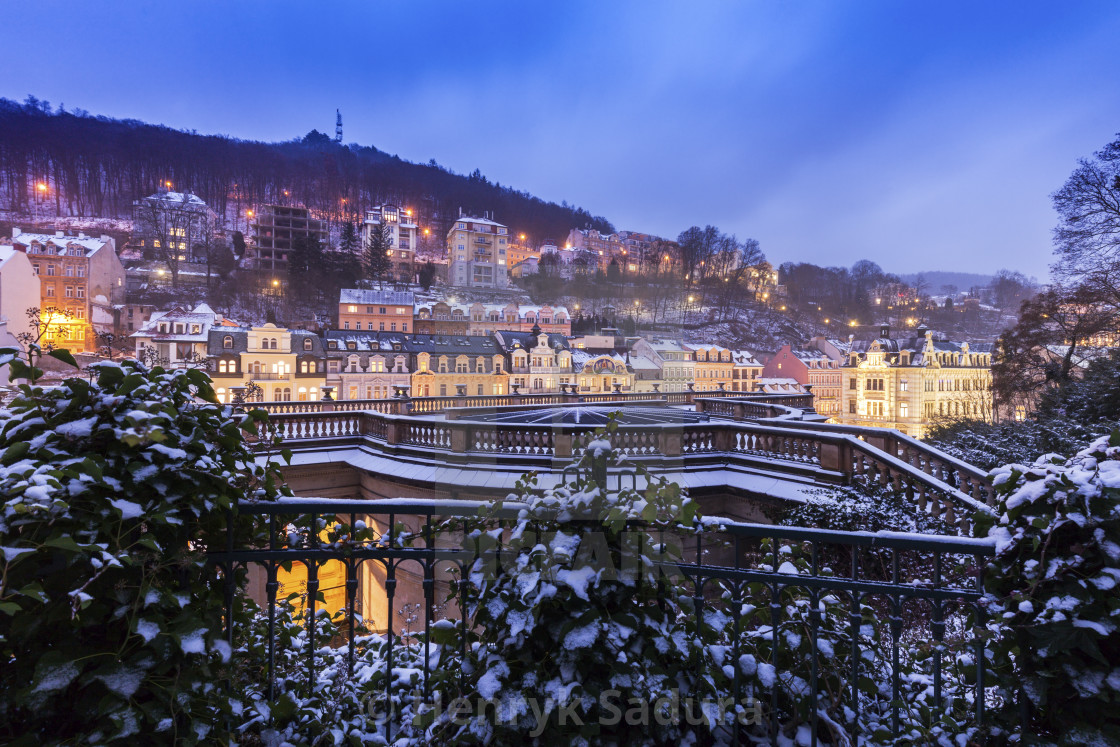 """Winter in Karlovy Vary"" stock image"