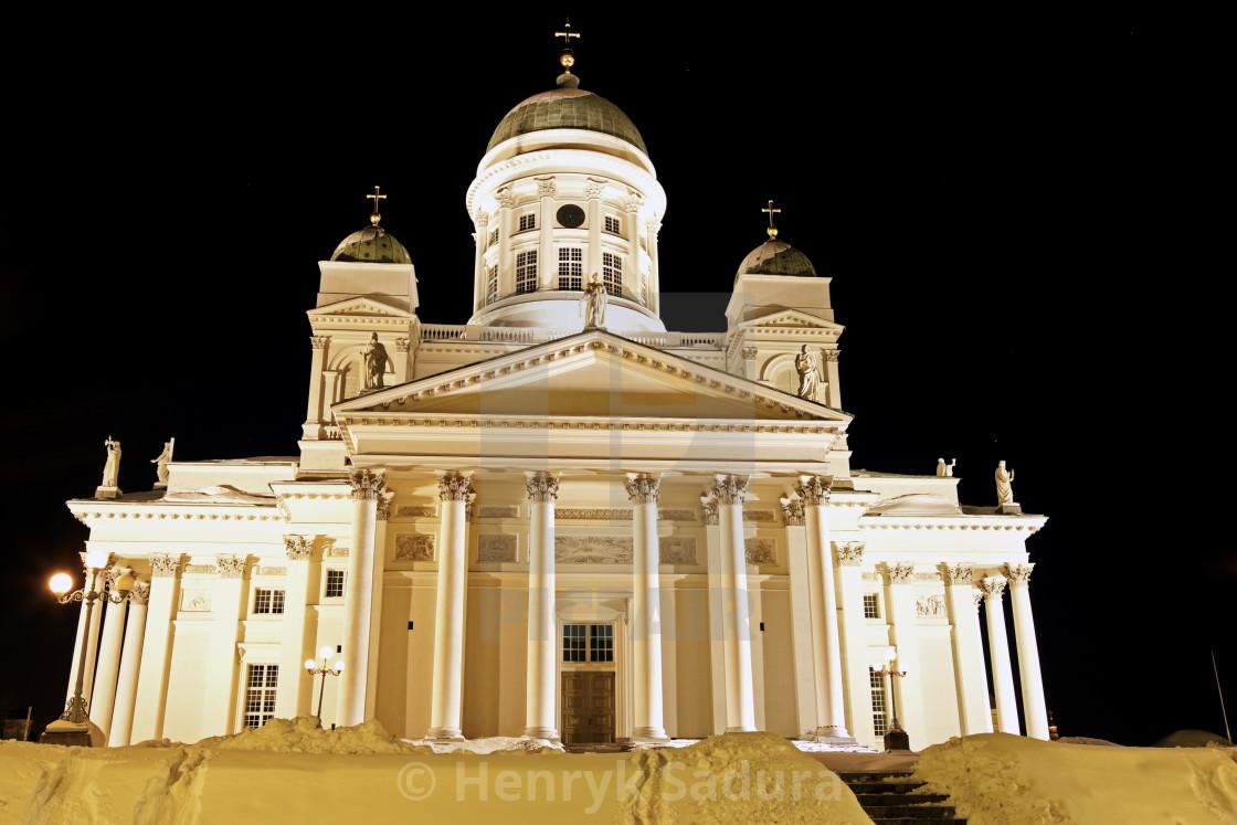 """""""Black Night in Helsinki"""" stock image"""
