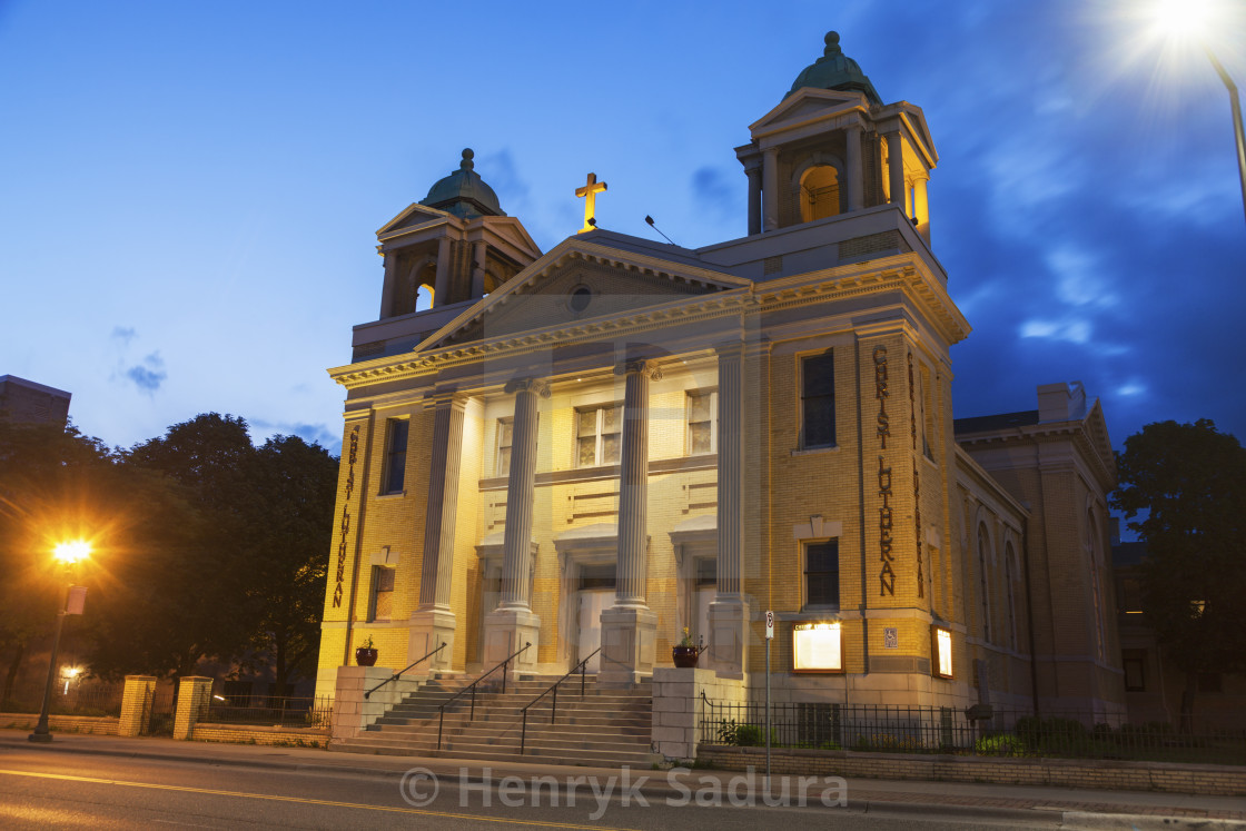 """""""Christ Lutheran Church in St. Paul"""" stock image"""