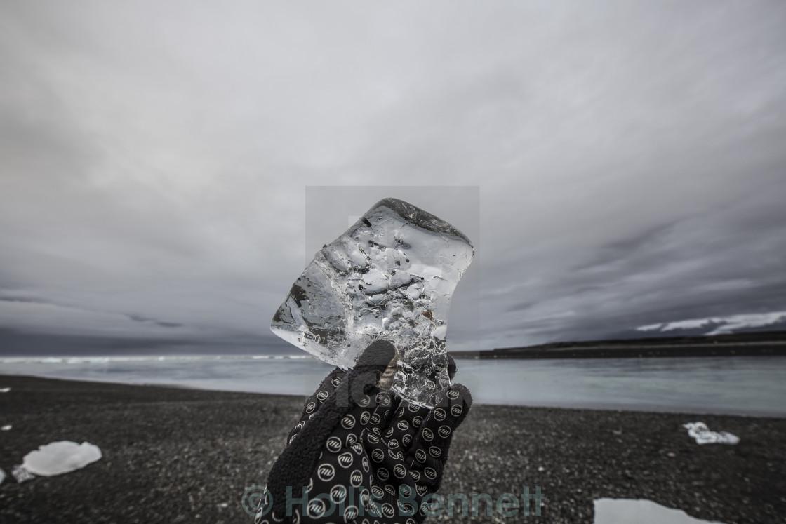 """Ancient ice, Iceland"" stock image"