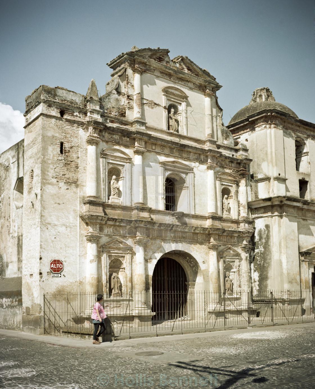 """Spanish Colonial Building, Antigua, Guatemala"" stock image"