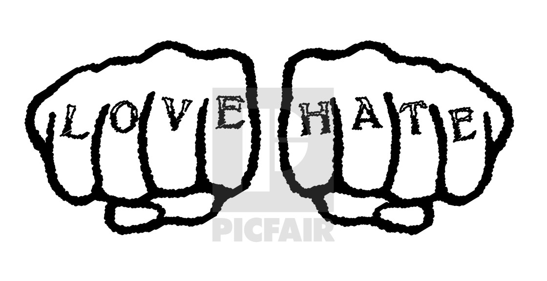 Love Hate Tattoo License Download Or Print For 1 24 Photos Picfair