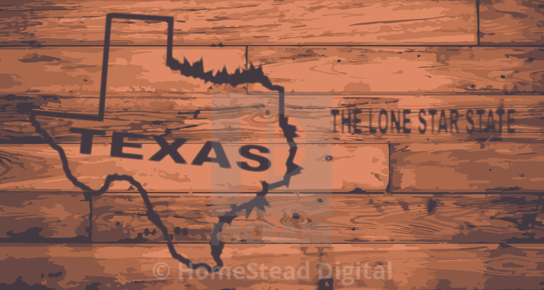 Texas Map Brand  - License, download or print for £1 24