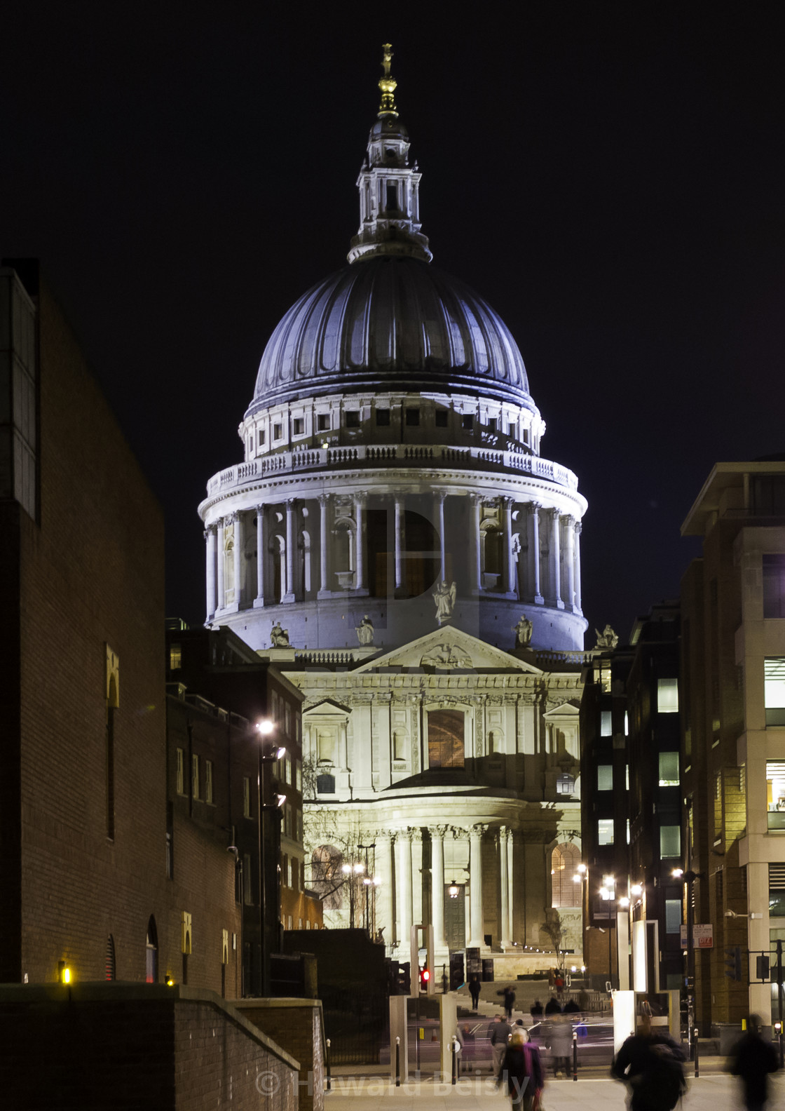 """""""St Paul's Cathedral in twilight"""" stock image"""
