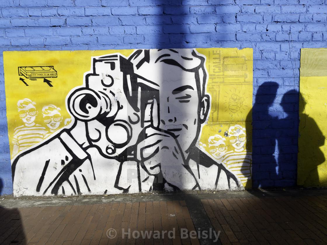 """Street art #1, Bogota, Colombia"" stock image"