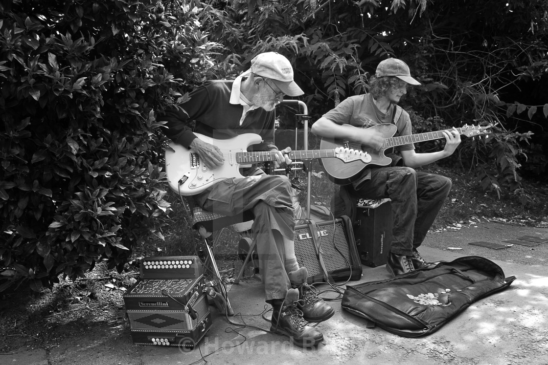 """""""Buskers on the guitars"""" stock image"""